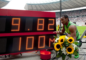 Sprint champion Blake sets new mark in Berlin