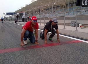 Yuvraj Singh attends Bahrain Grand Prix