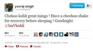 Yuvraj Singh congratulates Virat Kohli for his match-winning knock