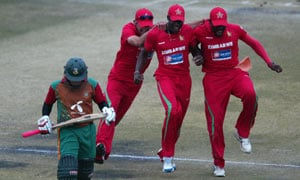 Zimbabwe edge Bangladesh by 5 runs to seal series