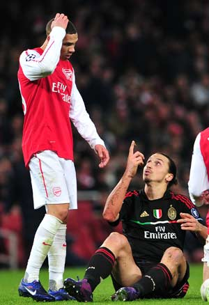 AC Milan yet to recover from Arsenal's shockwaves