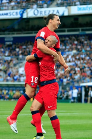 Zlatan Ibrahimovic's brace cheers PSG